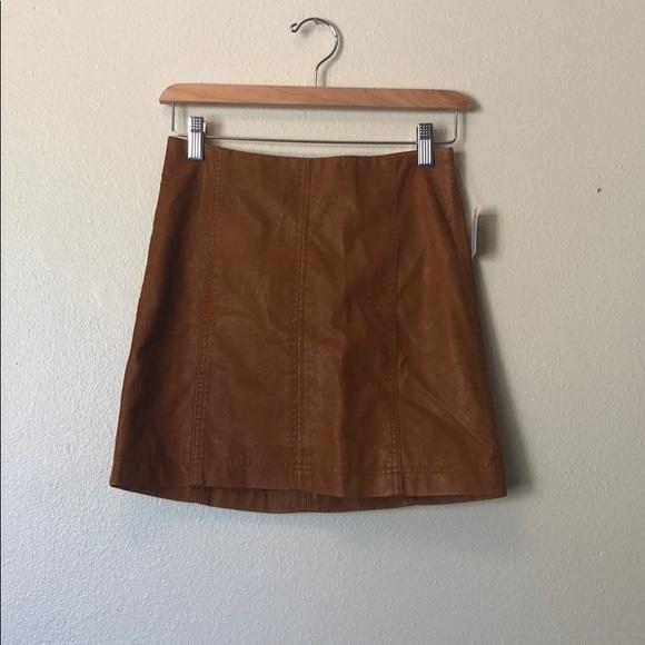Free People Dresses & Skirts - Modern Femme Vegan Leather mini Skirt